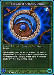 Promo5 Talisman of Arcane Defense