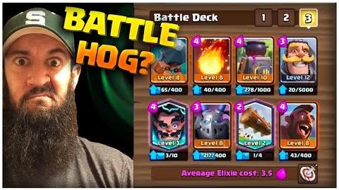 Clash Royale Hog Battle Ram Deck