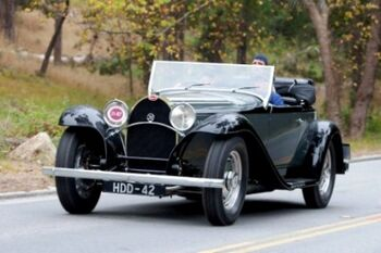 Bugatti Type 50 Roadster, Chassis 50123, at the 2010 Pebble Beach Concours d'Elegance, WM