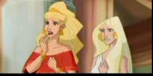 Aphrodite and persephone