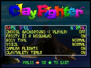 Clayfighter63-third betaoptions