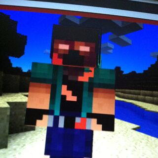 Minecraft skin, sorry if it's sideways.