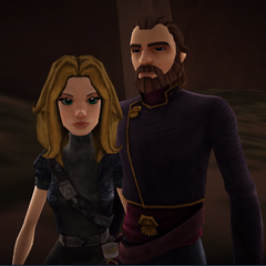 Alexzandria Grayson-Prosstang and her Baron, Ferrigo (19 BBY)