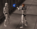 Luke shooting a clone he found at Ryloth Command after order 66