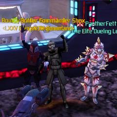 Commander Shox, PantherFett & Sarro Lok