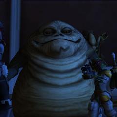 Commander Shox meets Jabba The Hutt