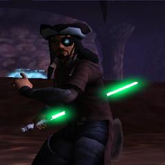 Commander Shox with Back Handed Light Saber