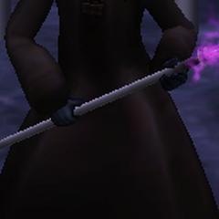 A'den's electrostaff gained after being resurrected by Darth Nox