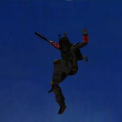 Commander Shox Falling Through Air