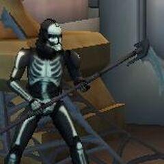 Joe's Halloween costume. A skeletal clone trooper.
