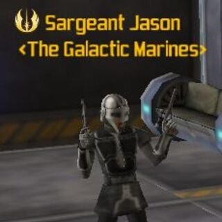The Galactic Marines Leader Sargeant Jason