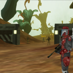 Commander Shox hunting on Felucia