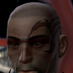 Andronikos Revel in modified sith-type armour given to him by Kitty.