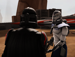 Vaze conferring with Vader on Quillura.