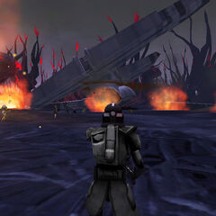 Drop Ship destruction, and one of my favorite screenshots of all time