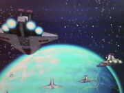 Republic fleet above Christosphsis