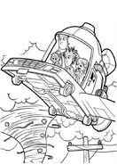 Cloudy with a Chance of Meatballs Flying Car 2 Coloring Page