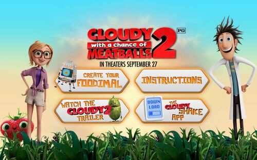 Cloudy 2 Foodimals launch page