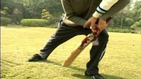 How to Play Cricket How to Bat a Front Foot Defense Shot in Cricket