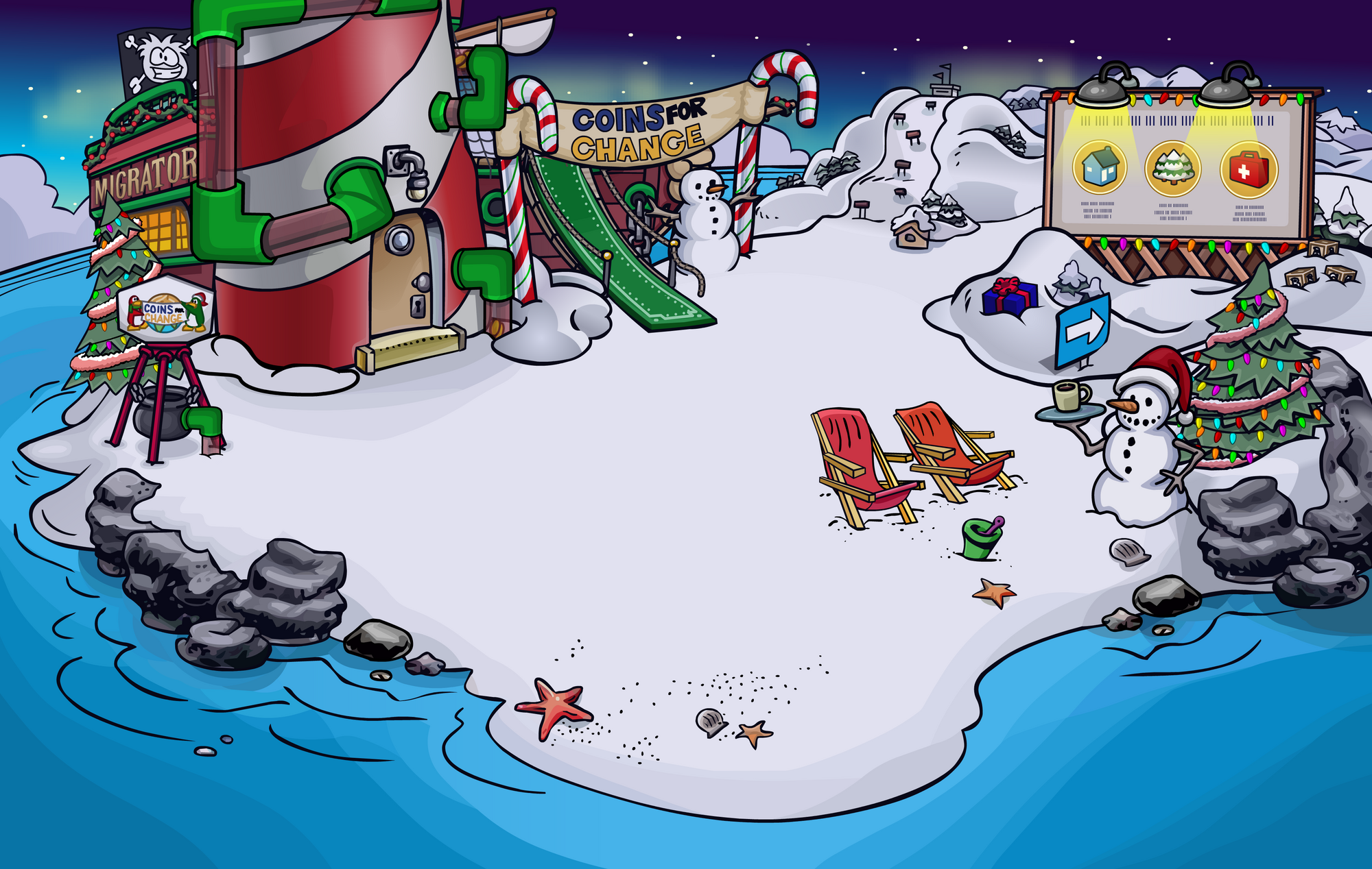 F te de no l 2010 wiki club penguin fandom powered by - Club penguin gratuit ...