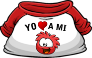 I Heart My Red Puffle T-Shirt icon es