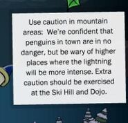 LIGHTNING WARNING Mountains = Death