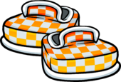 Orange Checkered Shoes Icon 6050