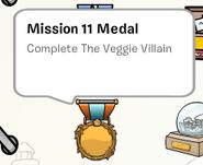 Mission 11 medal stamp book