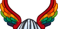 Rainbow Winged Helm