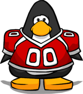 Red Football Jersey from a Player Card