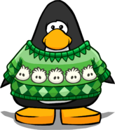 Holiday Puffle Story on a Player Card
