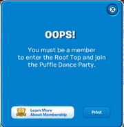 You must be a member to enter the Roof Top