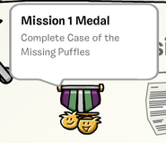 Mission 1 medal stamp book