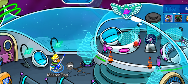 File:Puffle Digging in Igloo.png