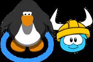 Gold Viking Helmet (Puffle Hat) In-Game