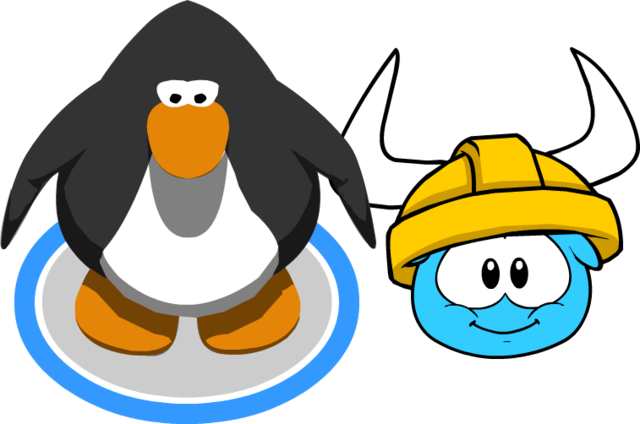 File:Gold Viking Helmet (Puffle Hat) In-Game.png