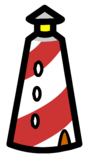 Lighthouse Pin