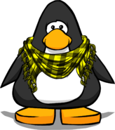 Bumblebee Scarf on a Player Card