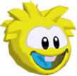 Yellow puffle 3d icon