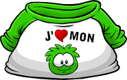 I Heart My Green Puffle T-Shirt icon fr