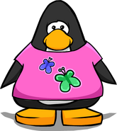 Butterfly T-Shirt on Player Card