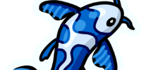 Blue Fish Pin