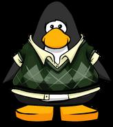 Dapper Sweater Vest on a Player Card