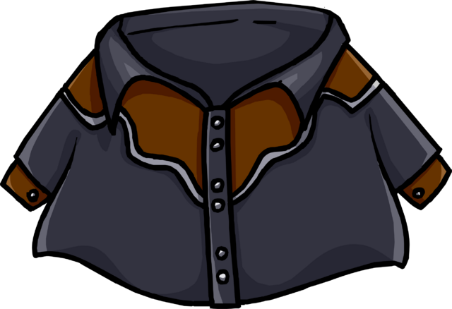 File:Black Cowboy Shirt clothing icon ID 843.png