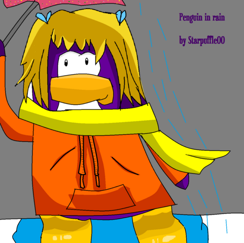File:Penguin In Rain Club Penguin Picture xxx.png