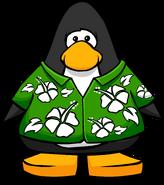 Hawaiian Shirt on a Player Card