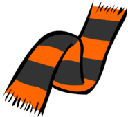 Halloween scarf old icon
