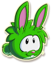 Green rabbit selected