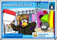 Membership Expires postcard 1