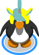Unicorn Puffle Cap in-game